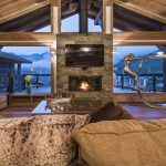Chalet Opale fireplace
