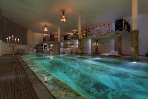 Switzerland's Best Ski Chalet nominee: Switzerland's Best Ski Chalet nominee: Chalet Truffe Blanche: A fantastic marble swimming pool is the centrepiece of the 1,000m2 spa