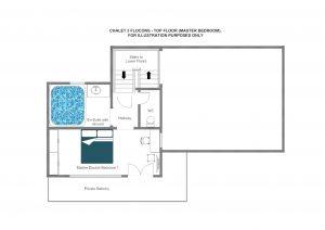 3 Flocons - Top floor Floorplan