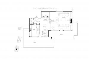 3 Flocons - Living floor (second floor) Floorplan