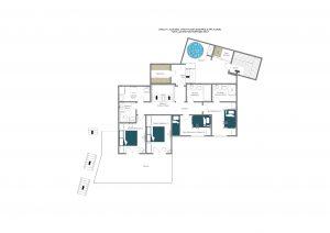 3 Flocons - Sleeping & spa floor (1st floor)  Floorplan