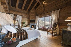 Switzerland's Best Ski Chalet nominee: Mon Izba master bedroom with a view