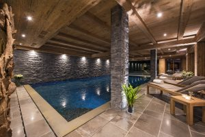 Switzerland's Best Ski Chalet nominee: the chalet has a wonderful spa with indoor swimming pool