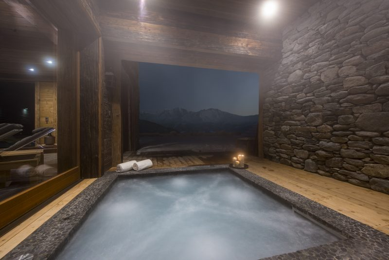 Switzerland's Best Ski Chalet nominee: Mon Izba has an outdoor hot tub that looks out over dramatic mountains