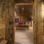The chalet combines old woods with contemporary styles.