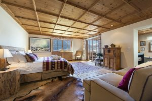 Austria's Best Ski Chalet nominee Maria Schnee in World Ski Awards. Here the master bedroom.