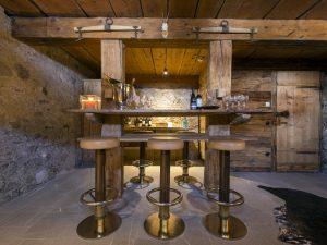 Bar seating at Chalet 1597