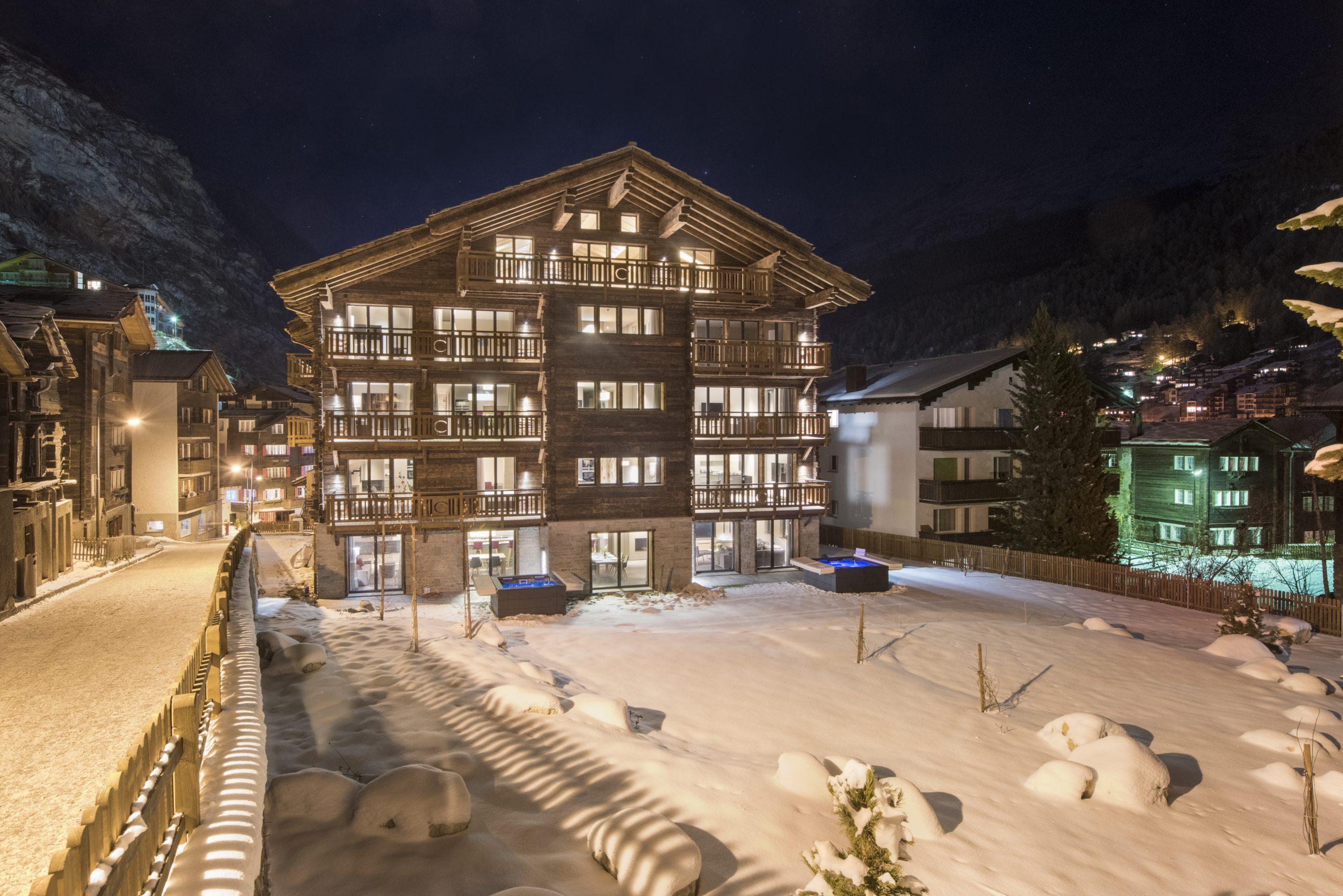 The Christiania Residence, in the heart of Zermatt.