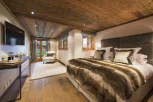 One of the chalet's four en-suite bedrooms