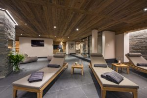 Loungers in the spa provide ample space for relaxing