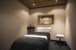 The chalet's massage treatment room