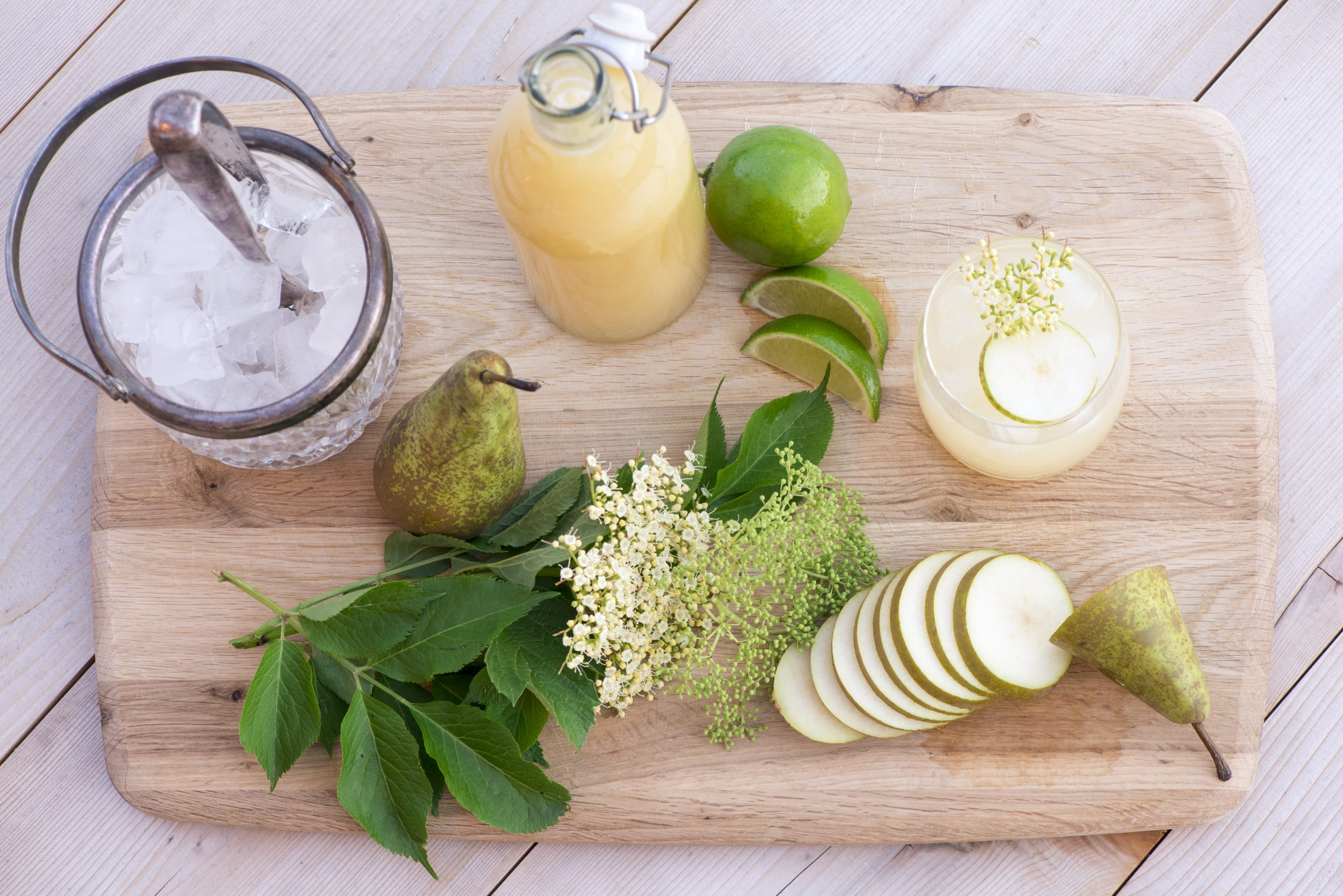 Fresh ingredients for a Spring cocktail