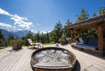 Chalet Le Ti hot tub
