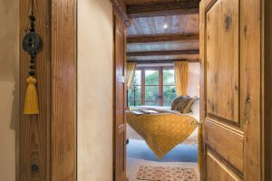View of a stunning bedroom in Bella Coola