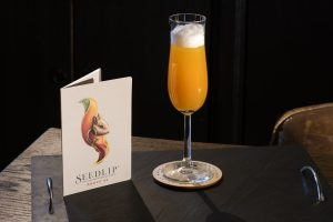 Seedlip cocktail menu available in our Bramble Ski's luxury ski chalets