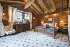 Bella Coola's master bedroom is spacious and luxurious boasting its own private balcony
