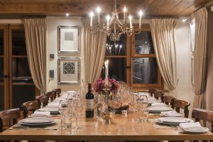 Bella Coola's dining room prepped and ready for dinner
