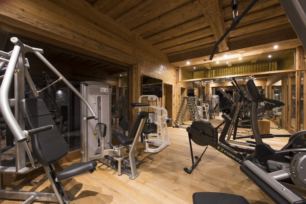 Gyms of luxury chalets
