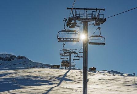 Ski lifts over Meribel