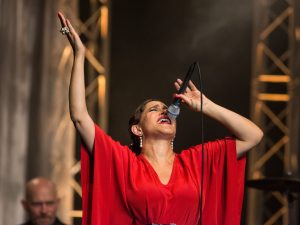 Lead singer of the vibrant Pink Martini at Verbier Festival 2017