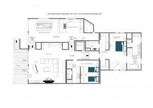 Agate Penthouse - Top floor  Floorplan