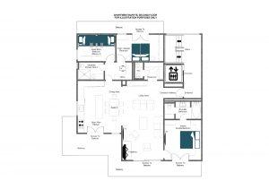Apartment Baryte - Second floor Floorplan