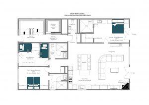 Apartment Saana - Ground floor  Floorplan