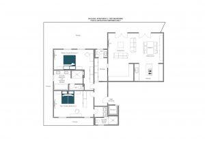 Balegia Apartment 2 - First floor Floorplan
