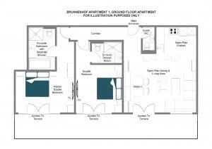 Brunnenhof 1 - Ground floor Floorplan