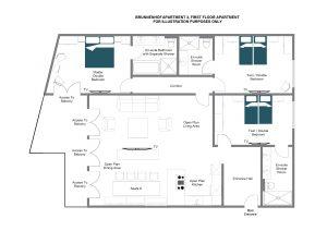 Brunnenhof 3 - First floor Floorplan