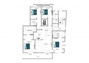 Brunnenhof 6 - First floor Floorplan