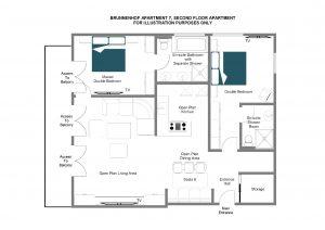 Brunnenhof 7 - Second floor Floorplan