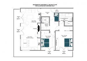 Brunnenhof 8 - Second floor Floorplan