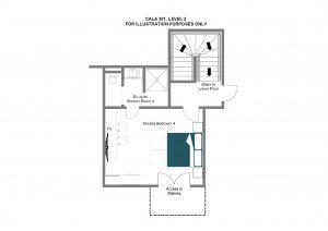 Cala 301 - Top floor Floorplan