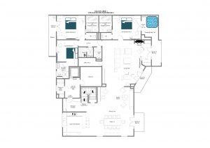 Cala 301 - Lower floor Floorplan