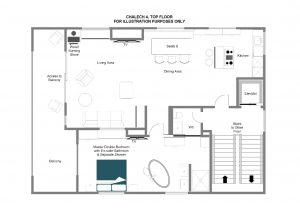 Chalech 4 - Top floor Floorplan
