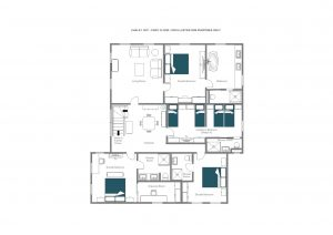Chalet 1597 - Sleeping floor (top floor)  Floorplan