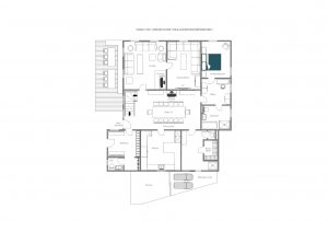 Chalet 1597 - Living floor (ground floor)  Floorplan