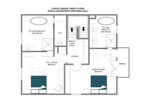 Chalet Abade - Top floor Floorplan