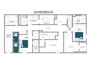 Chalet Abade - Ground floor Floorplan