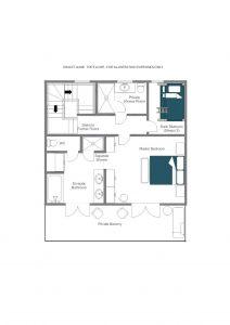 Chalet Aline - Top floor Floorplan