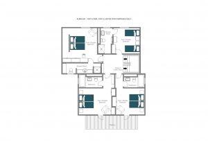 Chalet Almajur - Top floor  Floorplan