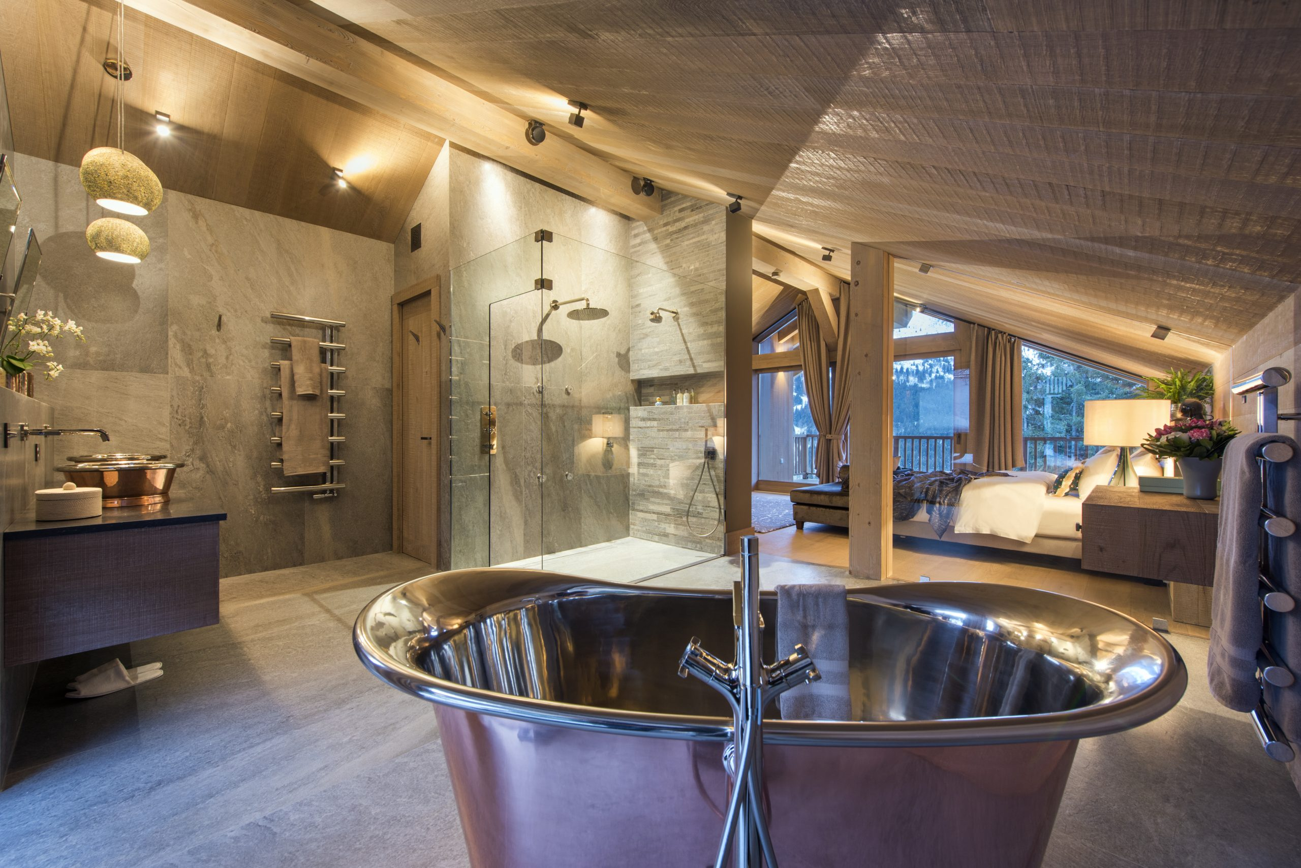 chalet alpaca luxury bath tub
