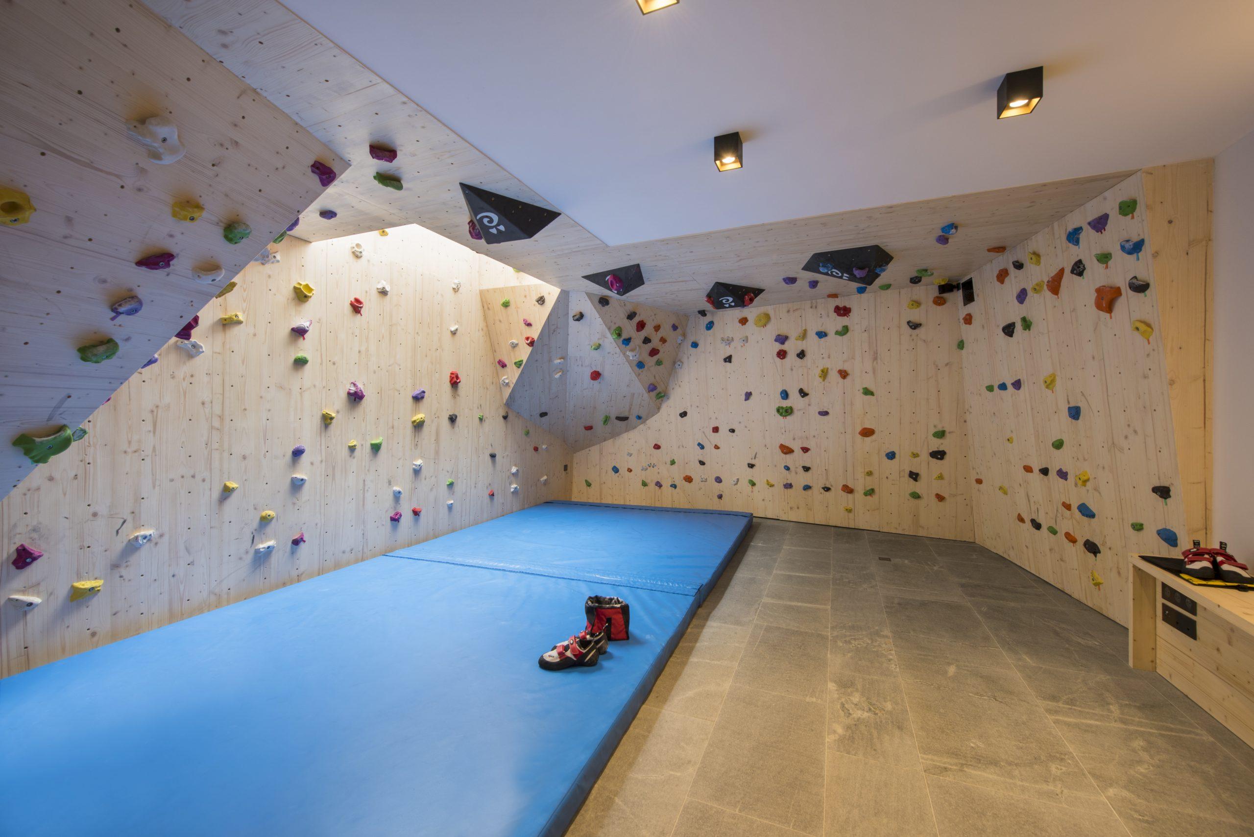 Alpaca's unique entertainment offering is it's indoor climbing room.