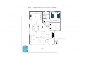 Chalet Alpin Roc - Second floor Floorplan