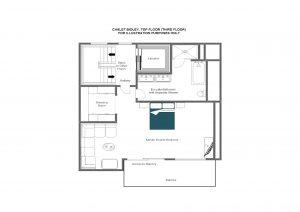 Chalet Bioley - Top floor (third floor) Floorplan