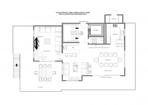 Chalet Bioley - Second floor (living floor) Floorplan
