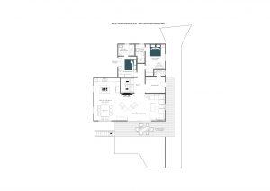 Chalet Daphne - Entrance level Floorplan