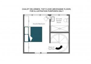 Chalet Delormes - Top floor Floorplan