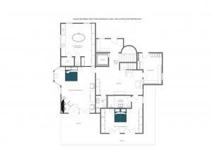 Chalet Delormes - Entrance level (1st floor)  Floorplan